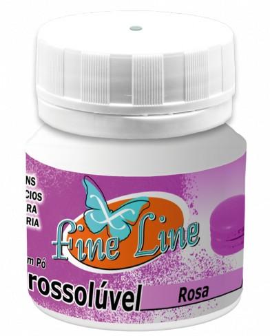 Corante em Pó Hidrosolúvel Rosa 5g - Fineline
