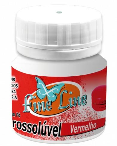 Corante em Pó Hidrosolúvel Vermelho 5g - Fineline