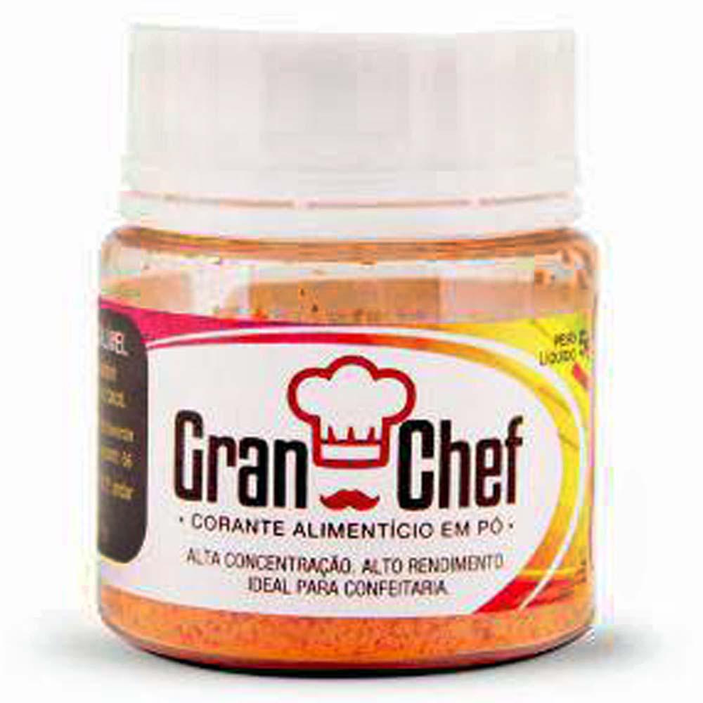 Corante em Pó Hidrossoluvel Amarelo 5g - Gran Chef