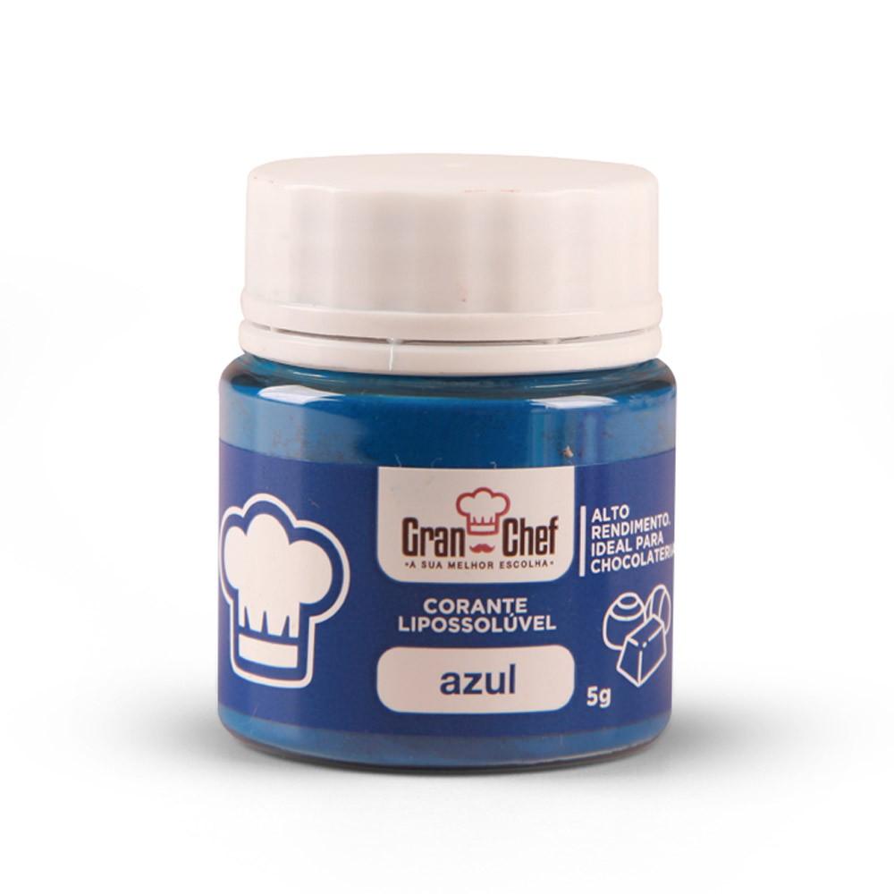 Corante em Pó Lipossolúvel p/ Chocolate Azul 5g - Gran Chef
