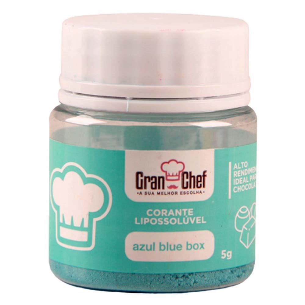 Corante em Pó Lipossolúvel p/ Chocolate Blue Box 5g - Gran Chef