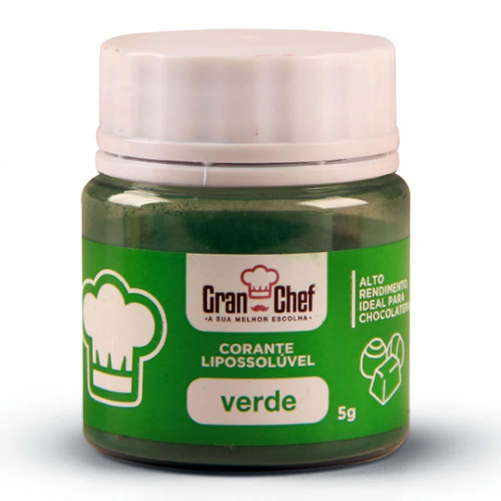 Corante em Pó Lipossolúvel p/ Chocolate Verde 5g - Gran Chef