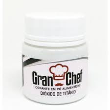 Corante em Pó p/ Chocolate e Confeitaria Dióxido de Titânio Branco 15g - Gran Chef