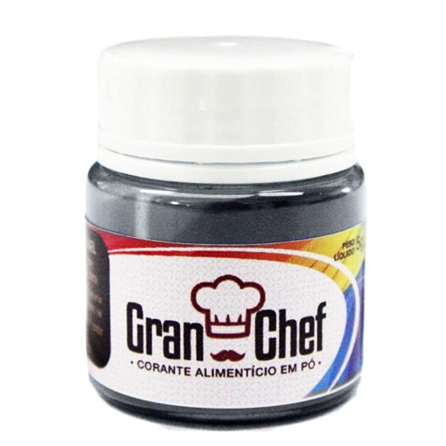 Corante em Pó p/ Chocolate e Confeitaria Preto 2,5g - Gran Chef