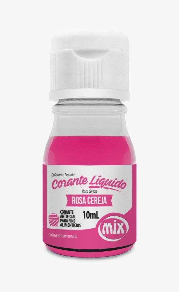 Corante Líquido Rosa Cereja 10ml - Mix