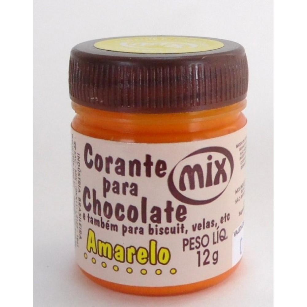 Corante Para Chocolate Amarelo 12g - Mix