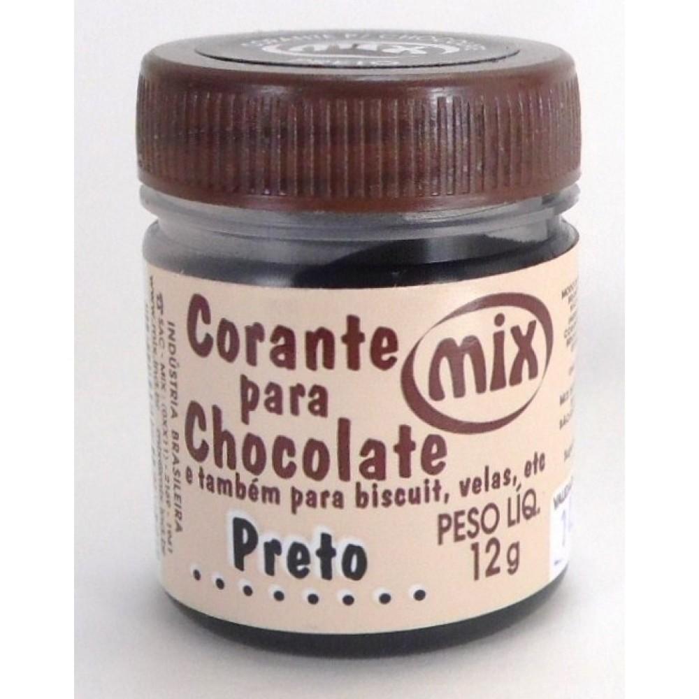 Corante Para Chocolate Preto 12g - Mix