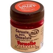 Corante Para Chocolate Vermelho 12g - Mix