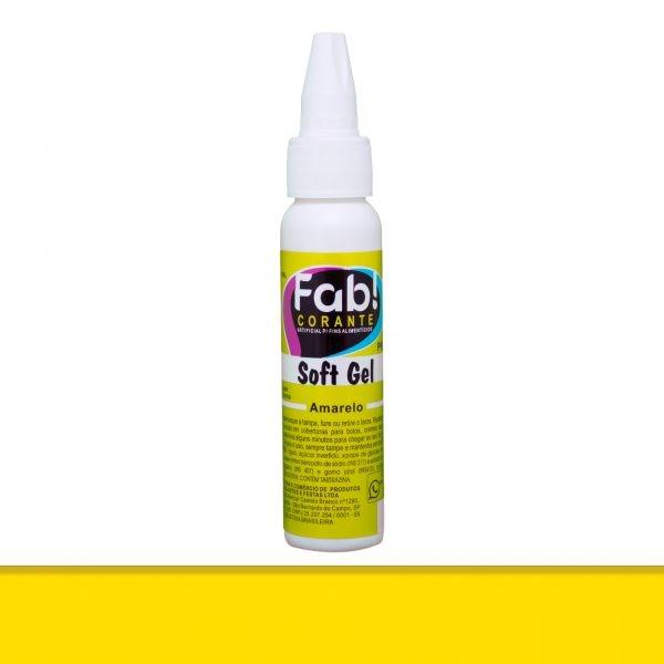 Corante SoftGel Amarelo 25g - Fab