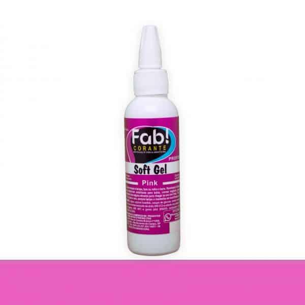 Corante SoftGel Pink 25g - Fab