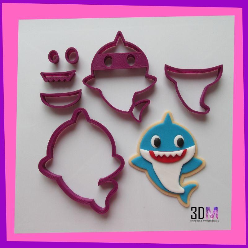 Cortador Baby Shark 10cm - 3DM