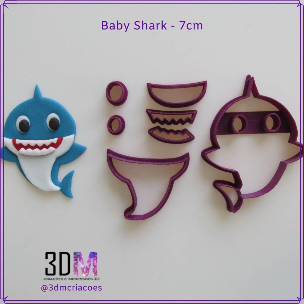Cortador Baby Shark 7cm - 3DM