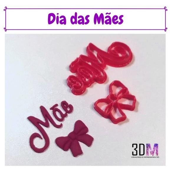 Cortador Dia das Mães Mãe e Laço - 3DM