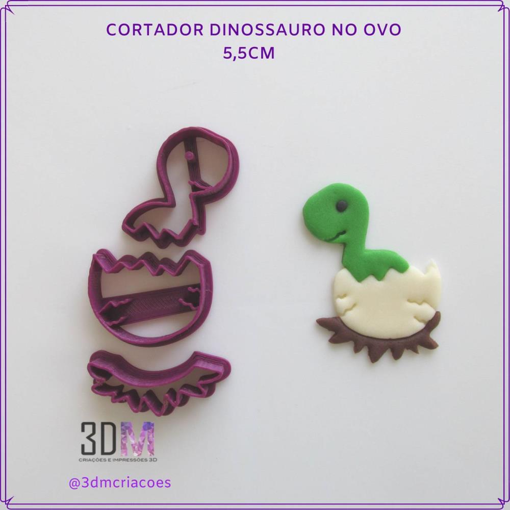 Cortador Dinossauro no Ovo - 3DM
