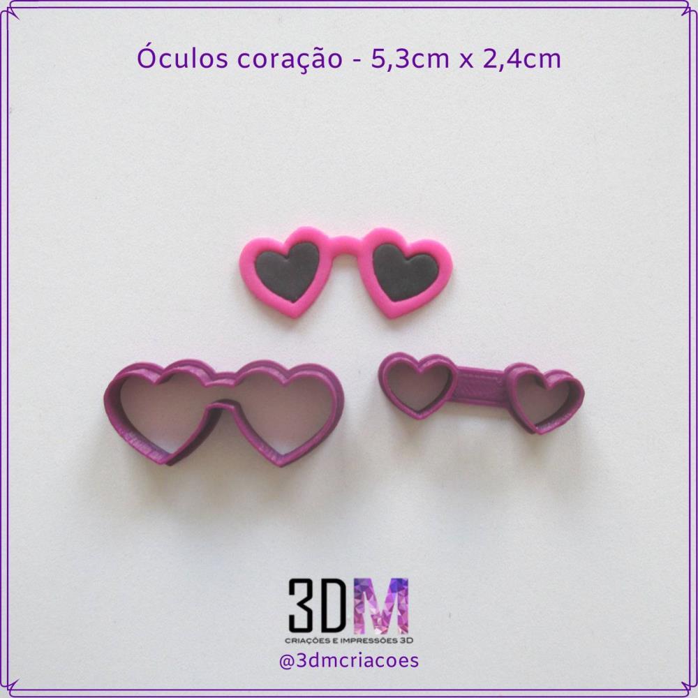 Cortador Óculos de Coração - 3DM