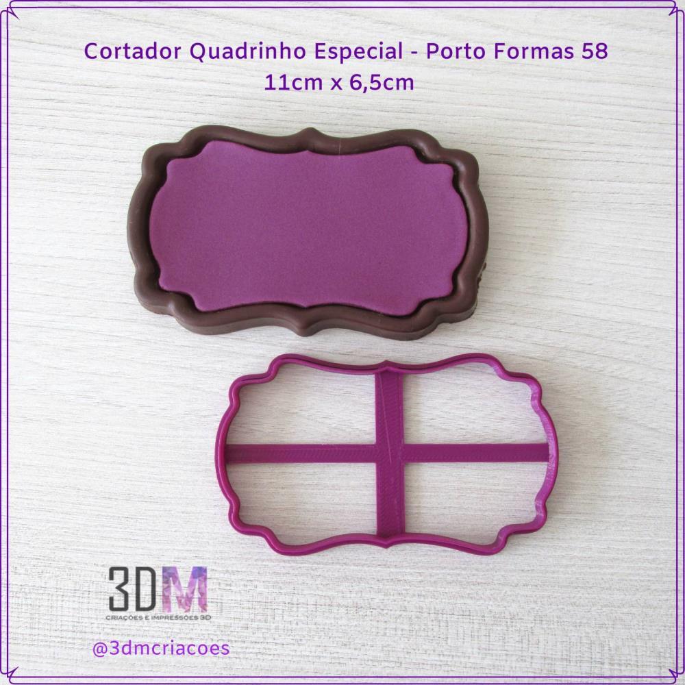 Cortador Quadrinho Especial Porto Formas 58 - 3DM