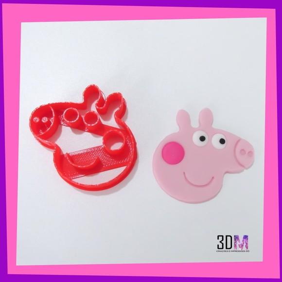 Cortador Rosa Peppa Pig - 3DM