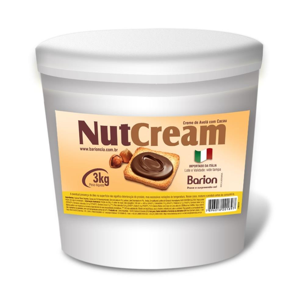 Creme de Avelã Italiano NutCream 3kg - Barion
