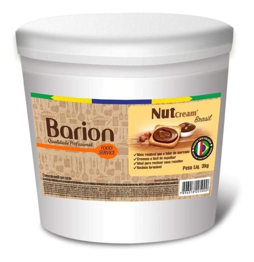 Creme de Avelã Nacional NutCream 3kg - Barion