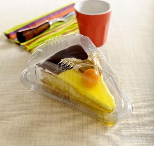 Embalagem Plástica p/ Fatia de Torta G630/300 10un - Galvanotek