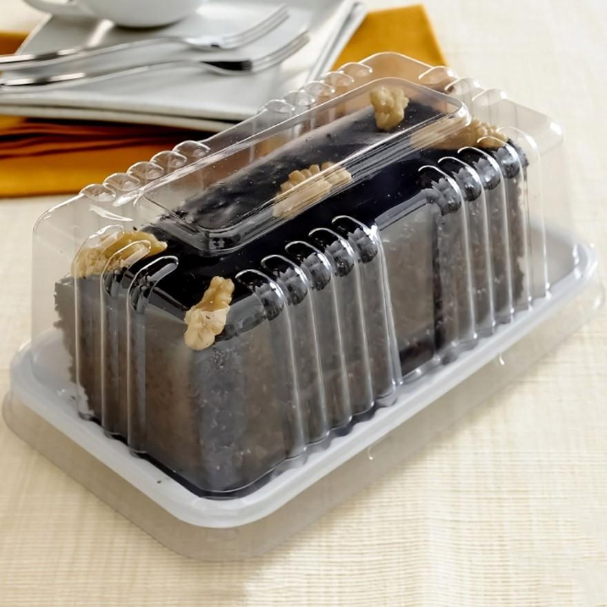 Embalagem Plástica Para Mini Torta 16,5x7,5x7,5cm G62 - Galvanotek