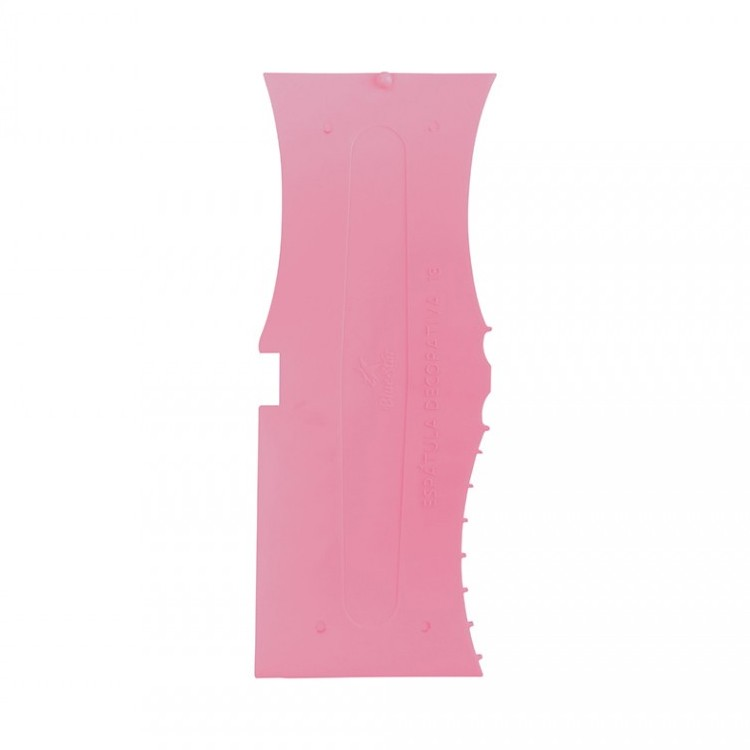 Espátula Decorativa Plástico Nº 13 Rosa Bebê - BlueStar