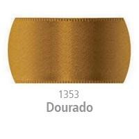 Fita de Cetim Duplo CF001 7mm 1353 Dourado - Progresso