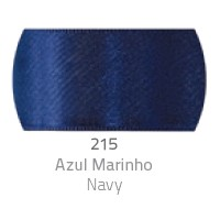 Fita de Cetim Duplo CF001 7mm 215 Azul Marinho - Progresso