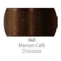 Fita de Cetim Duplo CF001 7mm 340 Marrom Café - Progresso