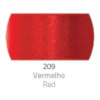 Fita de Cetim Duplo CF002 10mm 209 Vermelho - Progresso