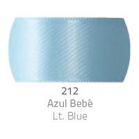 Fita de Cetim Duplo CF003 15mm 212 Azul Bebe - Progresso