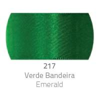 Fita de Cetim Duplo CF003 15mm 217 Verde Bandeira - Progresso