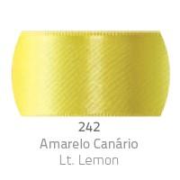 Fita de Cetim Duplo CF009 38mm 242 Amarelo Canário - Progresso