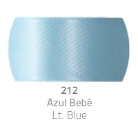 Fita de Cetim Duplo CF012 50mm 212 Azul Bebê - Progresso