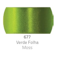 Fita de Cetim Duplo CF012 50mm 677 Verde Folha - Progresso