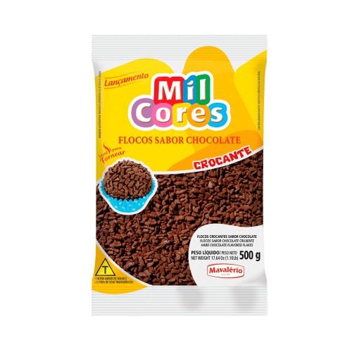 Flocos Crocantes Chocolate 500gr - Mavalério