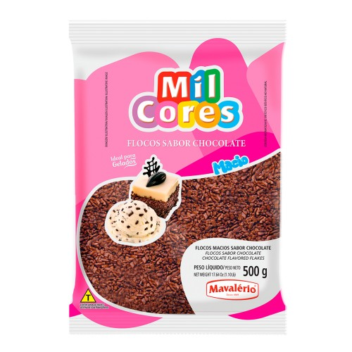 Flocos Macio Chocolate 500gr - Mavalério