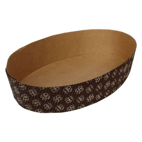Forma Colomba Oval 500g 21,5x5cm 5un - Ecopack