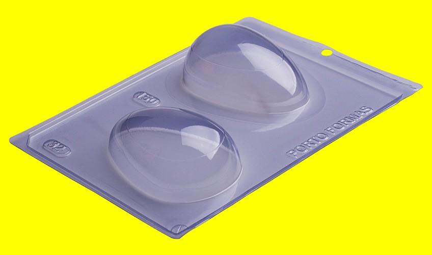 Forma de Acetato c/ Silicone Ovo Liso 150gr Especial - Porto Formas
