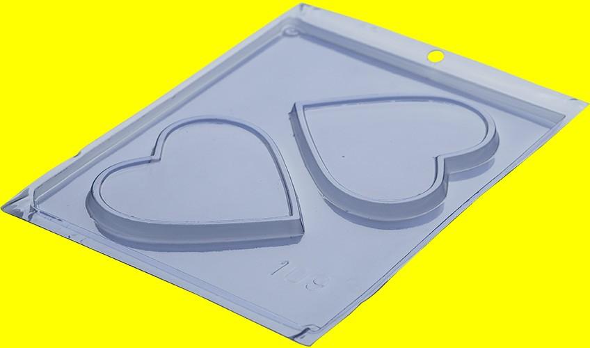 Forma de Acetato Placa Coração - Porto Formas