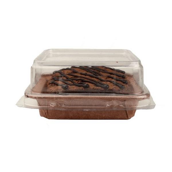 Forma de Brownie Quadrada P c/ Tampa 6,8x6,8cm 5un - EcoPack