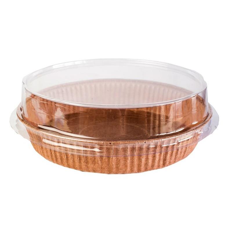 Forma de Torta (Pie) c/ Tampa 16x3cm 5un - EcoPack