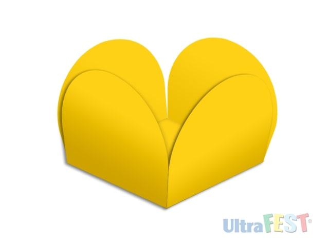 Forma p/ Doce Caixeta Amarelo 3,5cm - Ultrafest