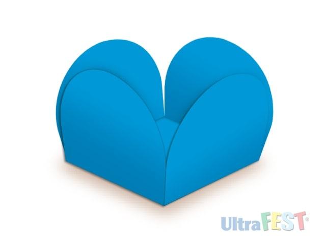 Forma p/ Doce Caixeta Azul Royal 3,5cm - Ultrafest