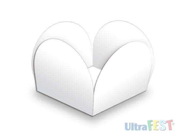 Forma p/ Doce Caixeta Branco 3,5cm - Ultrafest