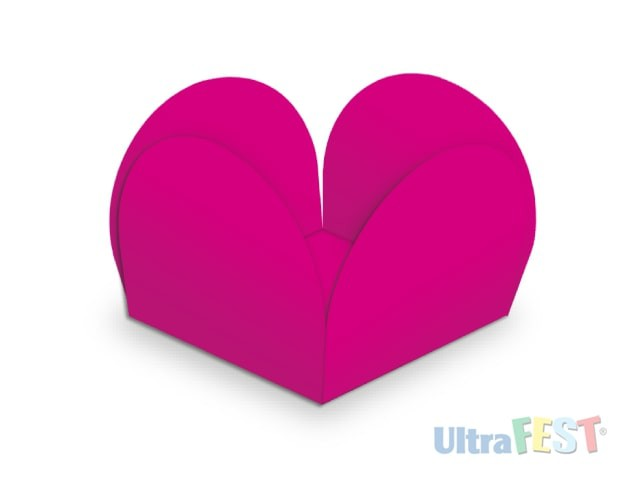 Forma p/ Doce Caixeta Pink 3,5cm - Ultrafest