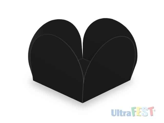 Forma p/ Doce Caixeta Preto 3,5cm - Ultrafest