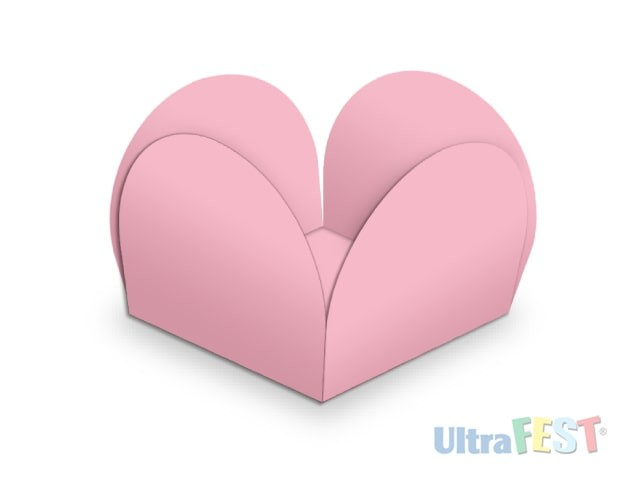 Forma p/ Doce Caixeta Rosa 3,5cm - Ultrafest