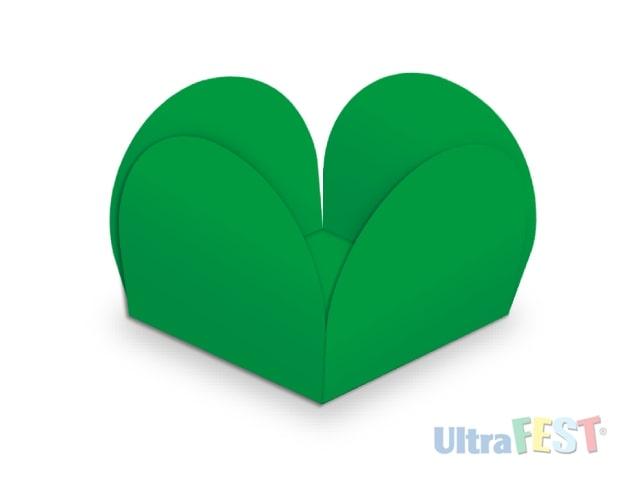 Forma p/ Doce Caixeta Verde 3,5cm - Ultrafest
