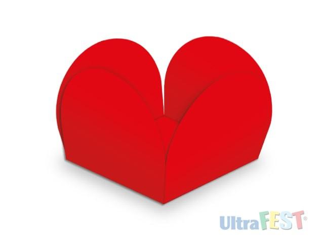 Forma p/ Doce Caixeta Vermelho 3,5cm - Ultrafest